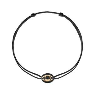 Bracelet Cordon Iris Onyx Or Jaune