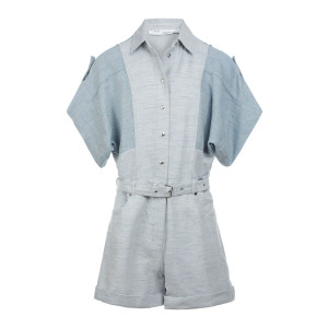 Combinaison Landemon Lin Coton Bleu