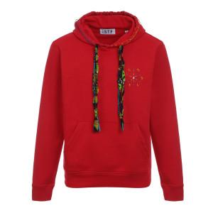 Sweatshirt Hoodie Soleil Coton Biologique Rouge