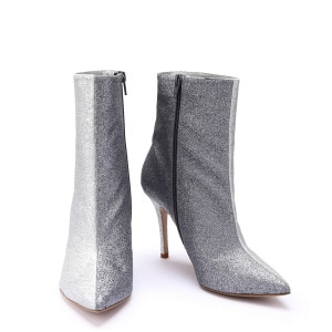 Bottines Bicolores 9 Paillettes Oyster