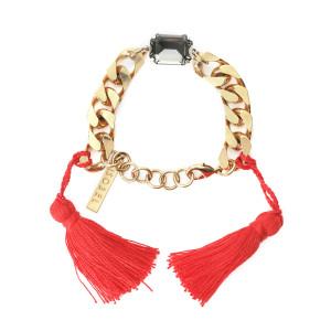 Bracelet Scarlett Swarovski Rouge Laiton Doré