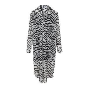 Robe Elona Voile Recyclé Zèbre Noir Blanc