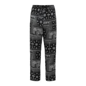 Pantalon Maha Paisley Bandana Noir Blanc