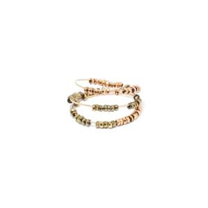 Bague Spirale Sublime Perles Hématite
