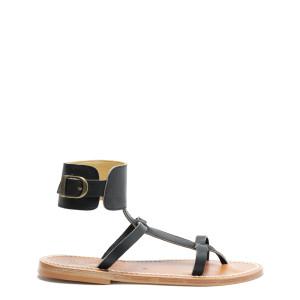 Sandales Caravelle Cuir Pul Noir