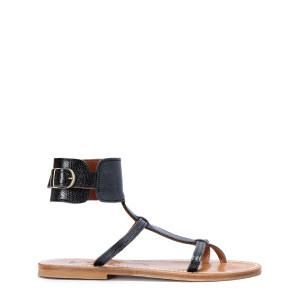 Sandales Caravelle Cuir Keo Noir