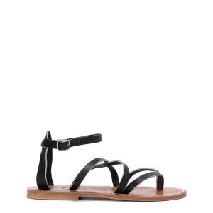 Sandales Epicure Cuir Pul Noir Bronze