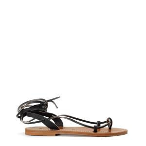 Sandales Lucile Cuir Pul Noir