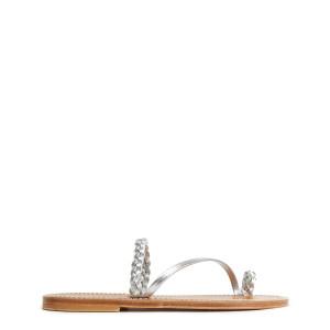 Sandales Isaure Cuir Metyl Argenté
