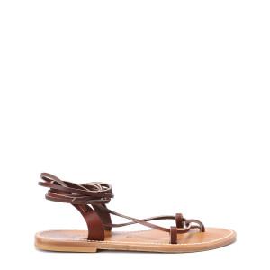 Sandales Lucile Cuir Pul Marron