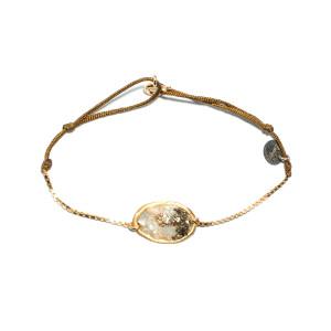 Bracelet Cordon Lakota M Nacre Pyrite