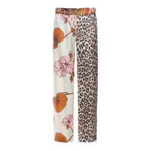 Pantalon Lucky Soie Imprimé Fleurs, Capsule Recyclé