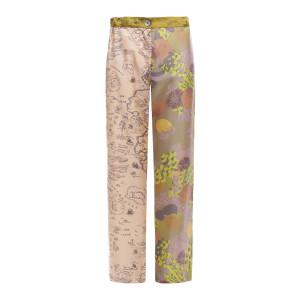 Pantalon Lucky Soie Imprimé Nude, Capsule Recyclé