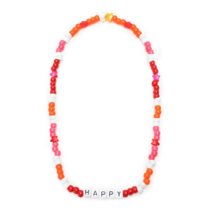 Collier Love Beads HAPPY Rose Orange