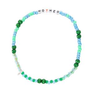 Collier Love Beads MOTHER Vert Bleu
