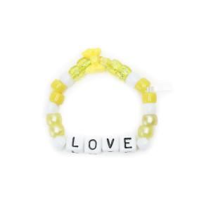 Bracelet Love Beads LOVE Jaune