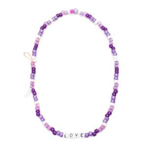 Bijou de Téléphone Love Beads LOVE Violet