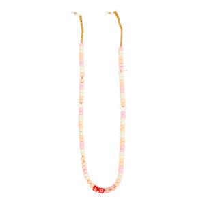 Chaîne de Lunettes Perles Love Beads LOVE Orange