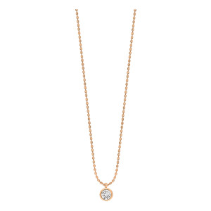 Collier Lonely Diamonds Simple Diamants Or Rose