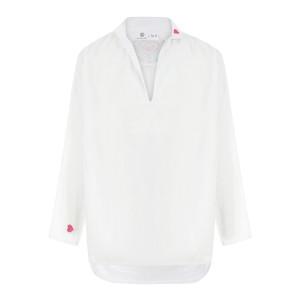 Blouse Coeur Sacré Coton Blanc, Collab' Lulli