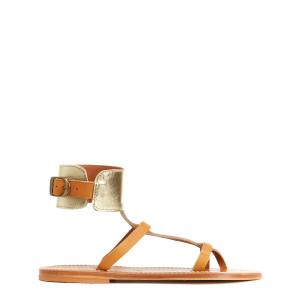 Sandales Caravelle Cuir Pul Naturel Lamé Platine
