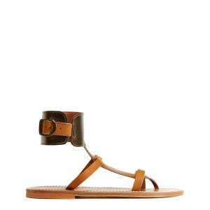 Sandales Caravelle Cuir Pul Naturel Lamé Bronze
