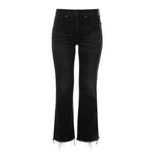 Jean Taille Haute Coton Basalt Noir