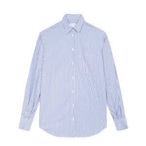 Chemise Amour Coton Rayures Bleu Blanc