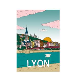Affiche Lyon 30x40cm