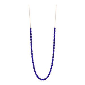 Collier Maria Mini Boulier Or Rose Lapis Lazuli