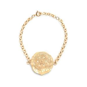 Bracelet Gourmette Médaille PM Amour Plaqué Or