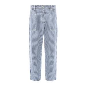 Pantalon Worker Rayures Bleu