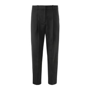 Pantalon Droit Laine Noir
