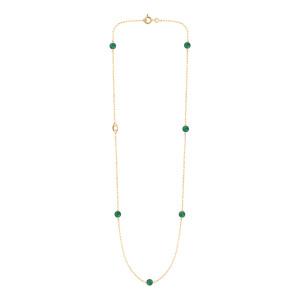 Collier Massilia Agate Verte