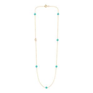 Collier Massilia Turquoise Or Jaune
