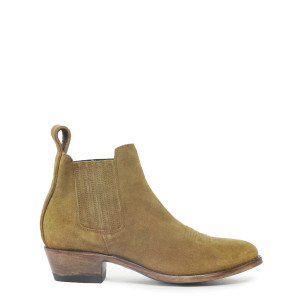Bottines Estudio Bis New Camel Cuir Suédé