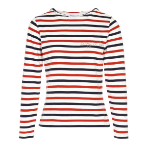 Tee-shirt Sailor Crazy in Love Coton Bleu Rouge Doré