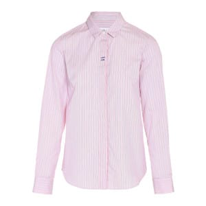 Chemise Whatever Coton Rayures Rose Bleu