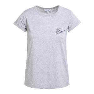 Tee-shirt Rêver, Aimer Coton Gris Chiné Bleu