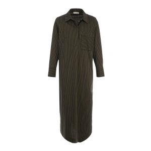 Robe Reze Coton Ocre Noir