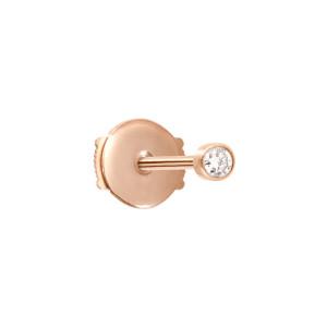 Boucle d'oreille One Or Rose Diamant (vendue à l'unité)
