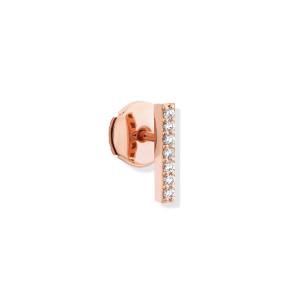 Boucle d'oreille Hash Barrette Diamants Or Rose (vendue à l'unité)