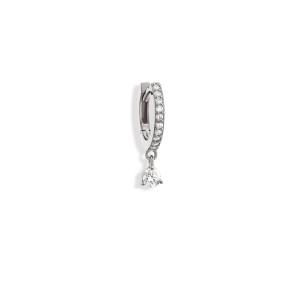 Mini Créole Lolita Diamants Or Blanc (vendue àl'unité)