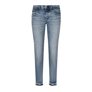 Jean Maywood Tapered Coton Denim Bleu