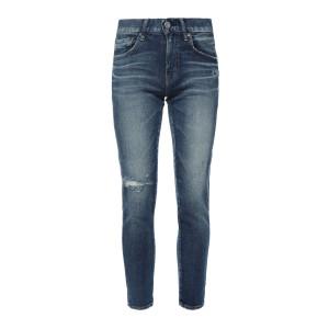 Jean Falkner Skinny Coton Bleu