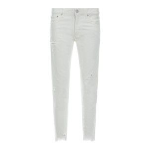 Jean Kelley Tapered Denim Blanc