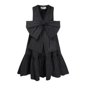 Robe Trapèze Nœud Noir