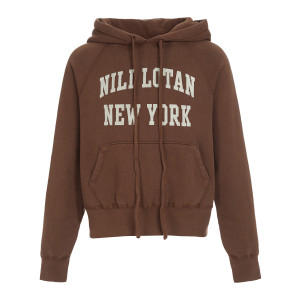 Sweatshirt Nili Lotan New-York Imprimé Marron