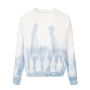 Sweatshirt Crew Tie and Dye Bleu