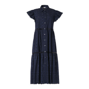 Robe Curcuma Coton Bleu